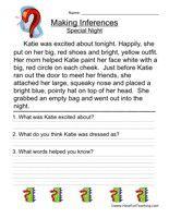 Reading Comprehension Inferences Worksheets | Mreichert Kids ...