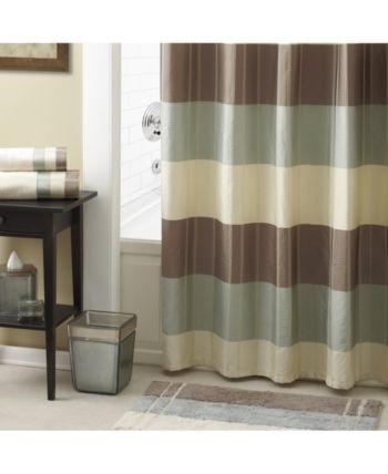Croscill Fairfax Colorblocked Stripe 72 X Shower Curtain