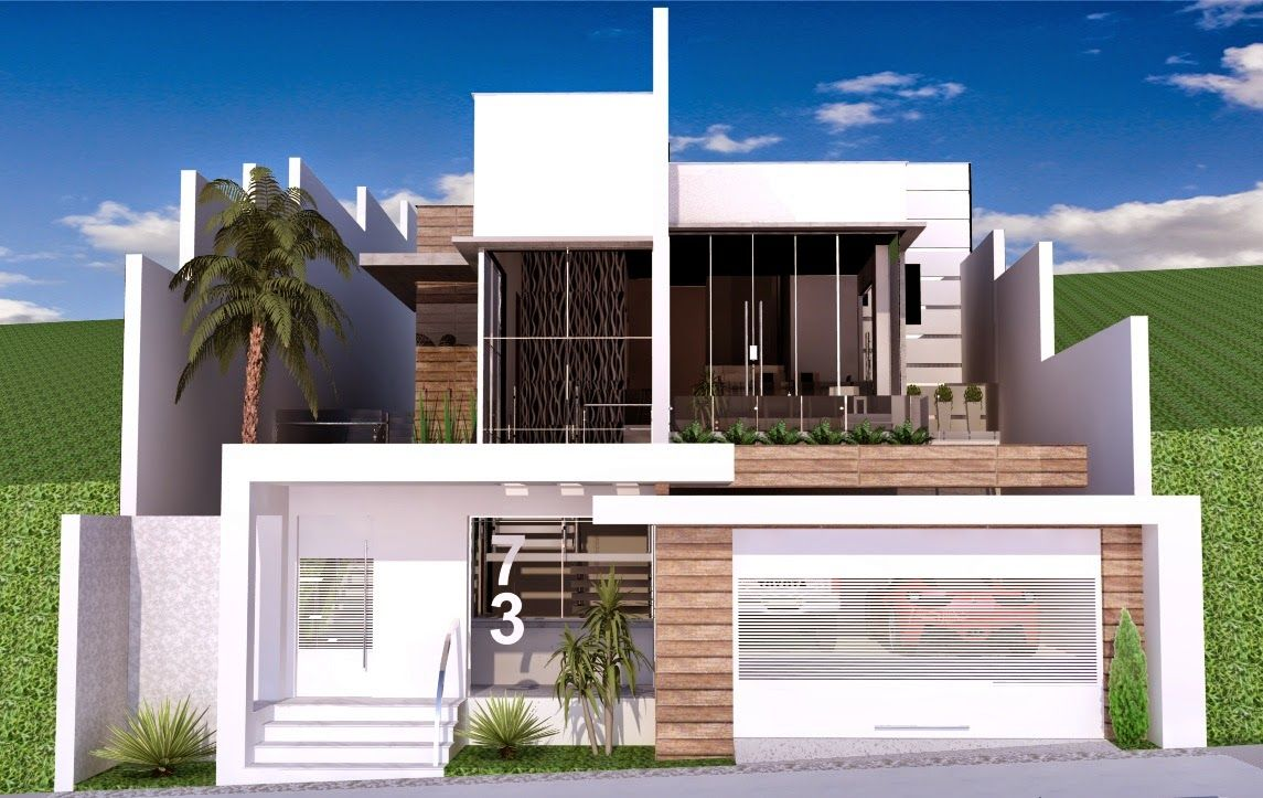 fachadas-casas-muro-portão-5.jpg (1145×723) | fachadas | Pinterest ...