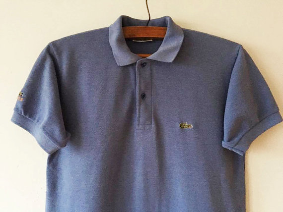 2914edf09afba Vintage Light Blue Lacoste Polo Shirt Short Sleeve Summer Chemise Blue Polo  Golf Shirt Blue Preppy S