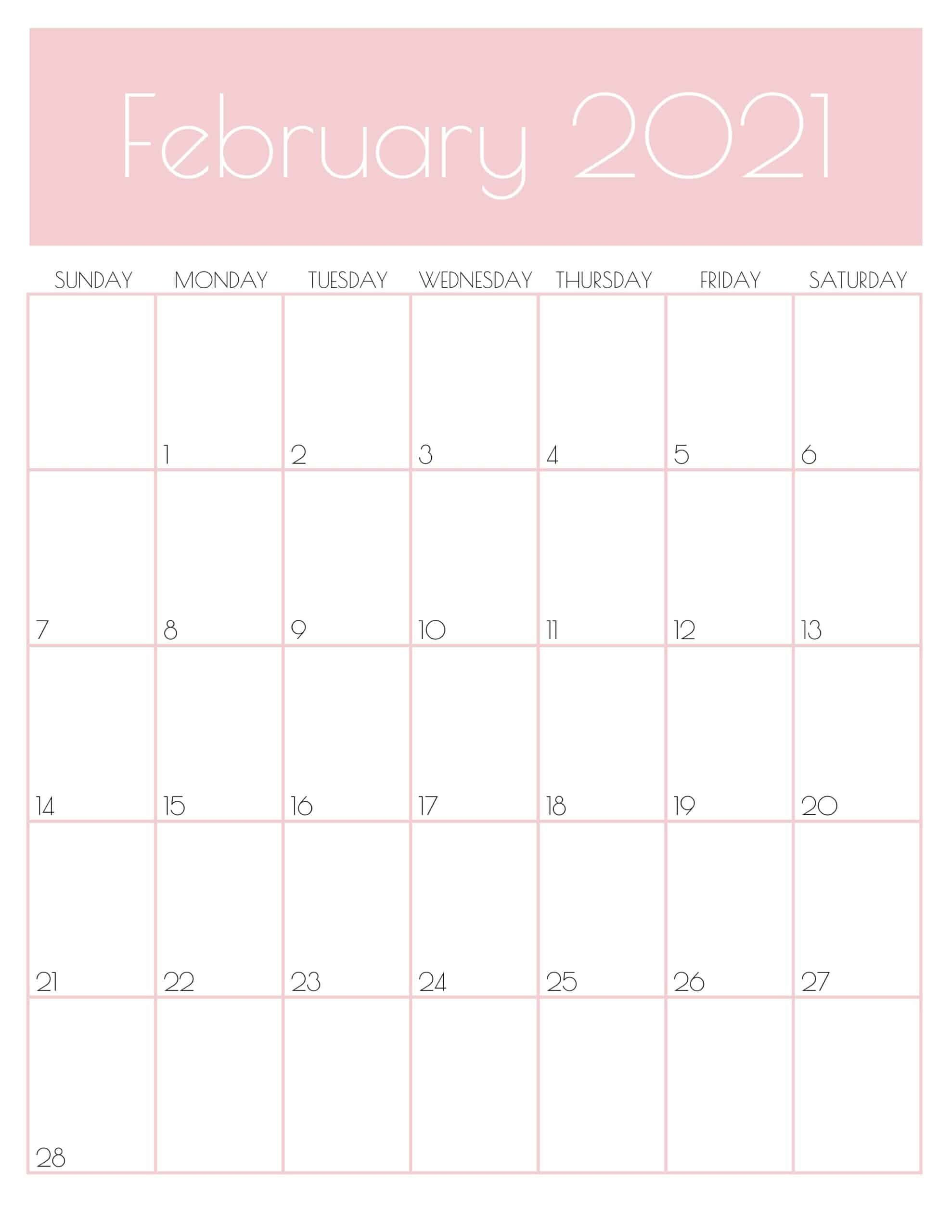 Cute Free Printable February 2021 Calendar Saturdaygift In 2020 2021 Calendar Monthly Goals Planner Calendar Printables