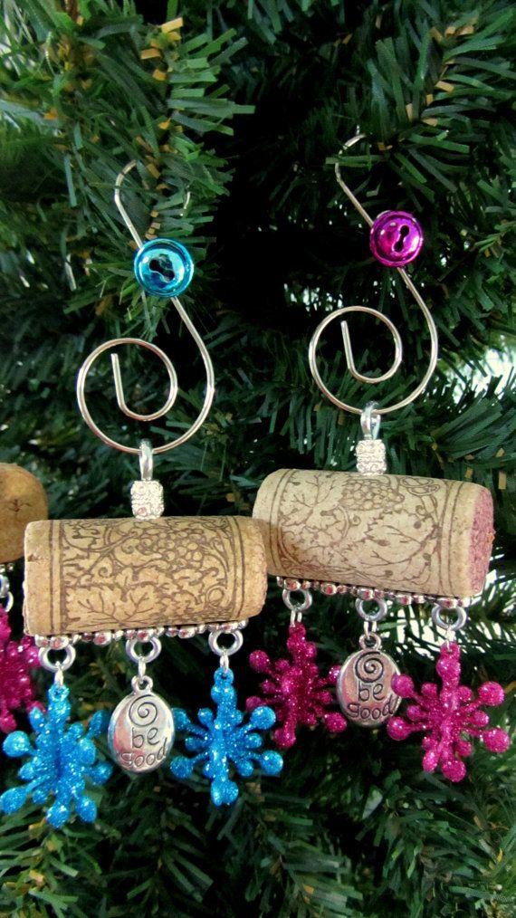 Be Good Wine Cork Christmas Ornament by PleasantPresents on Etsy