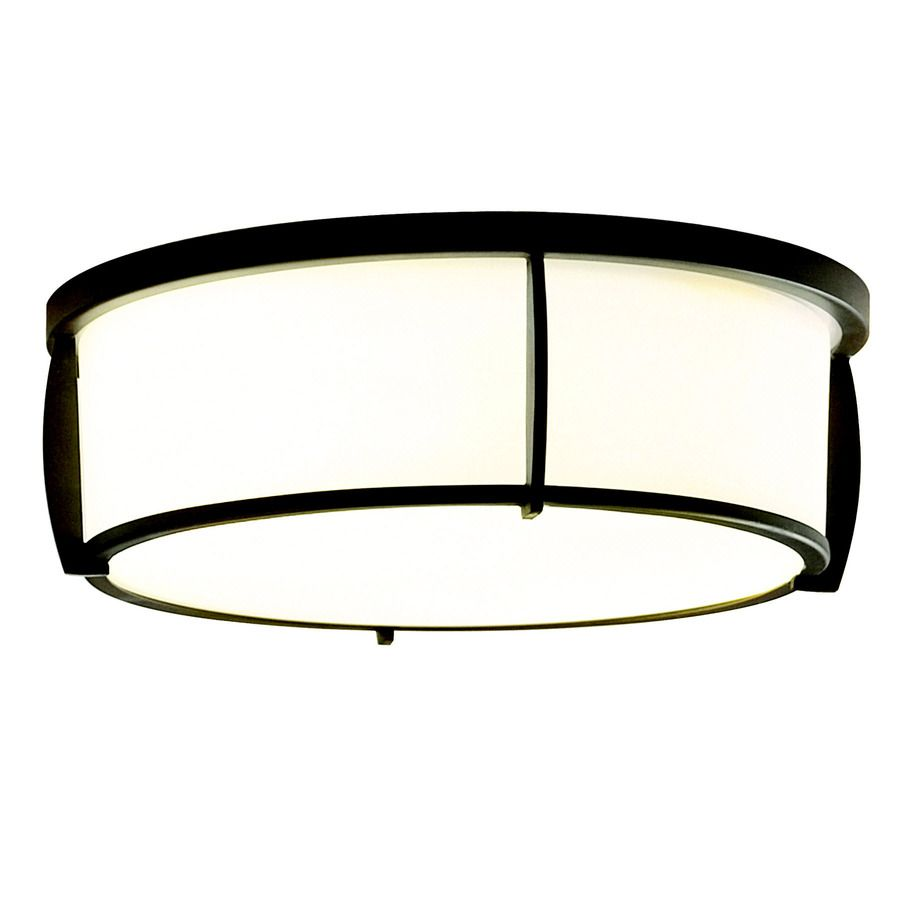 Shop Allen Roth 13 In W Oil Rubbed Bronze Ceiling Flush Mount At Lowes Com Kitchen Ceiling