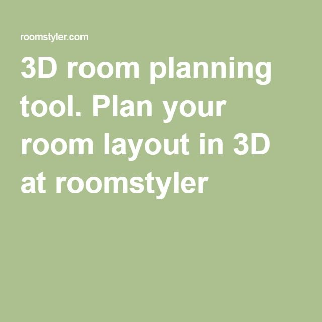 3d room planning tool plan your room layout in 3d at roomstyler - 3d Planning Tool