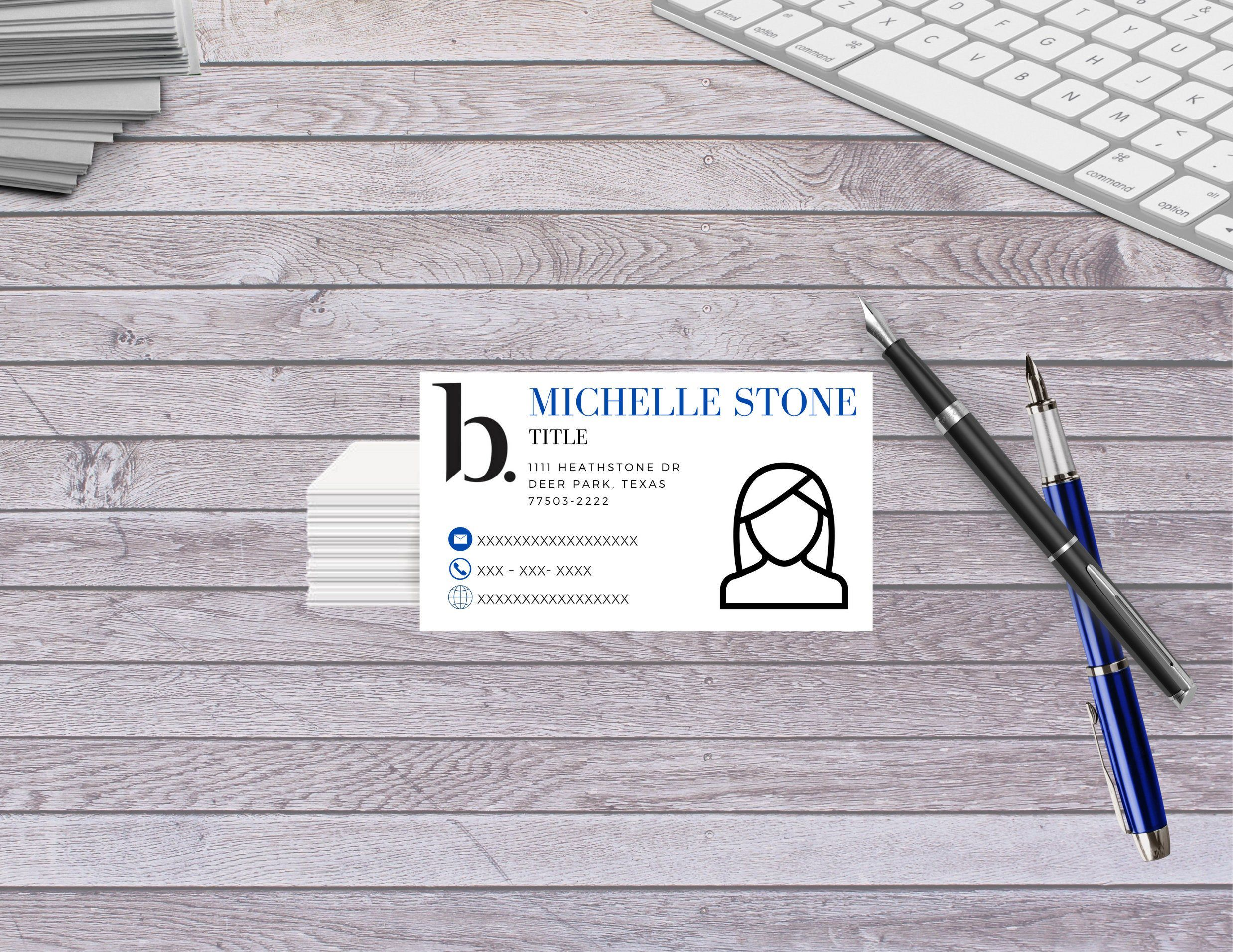 Beautycounter Consultant Business Card Template B Logo Etsy Business Card Template Consultant Business Card Template