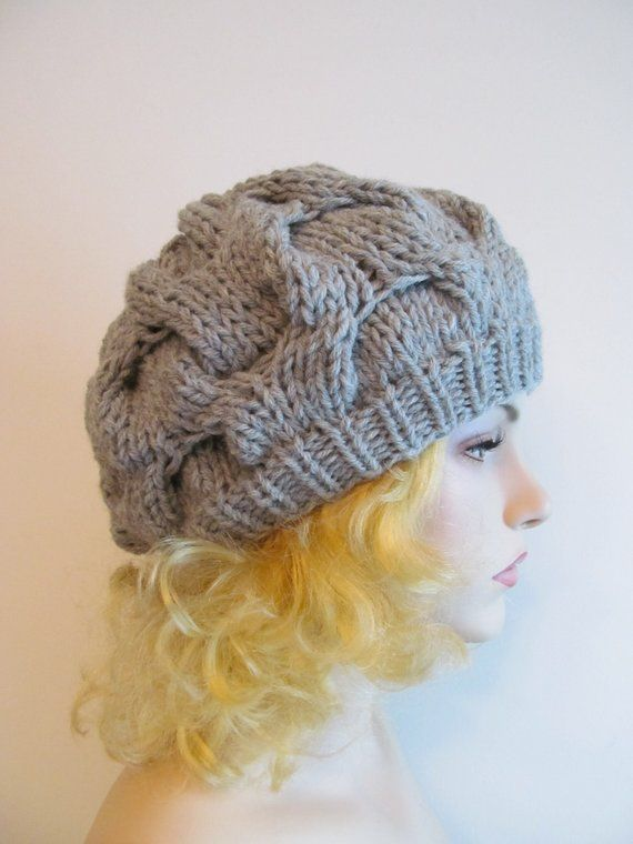e0c4178d3f5d8e PDF Knitting Pattern Instant Download Chunky Slouchy Beanies Berets Tam  Cable Hipster Hats Womens Gi