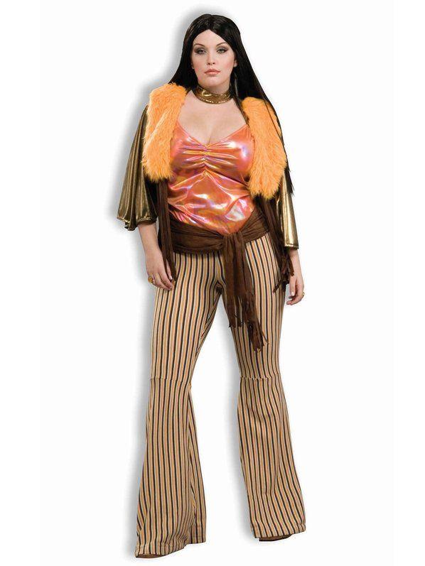 Womans Plus Size 60s Babe Costume Plus Size Halloween Costumes - halloween costume ideas plus size
