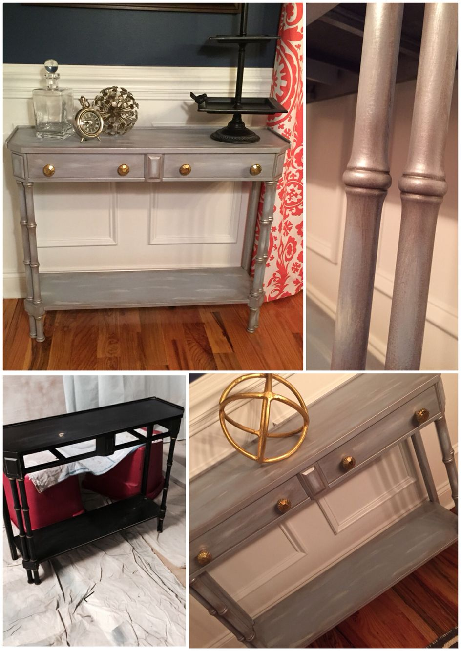 Sofa Table Painted With Americana Decor Chalk Paint
