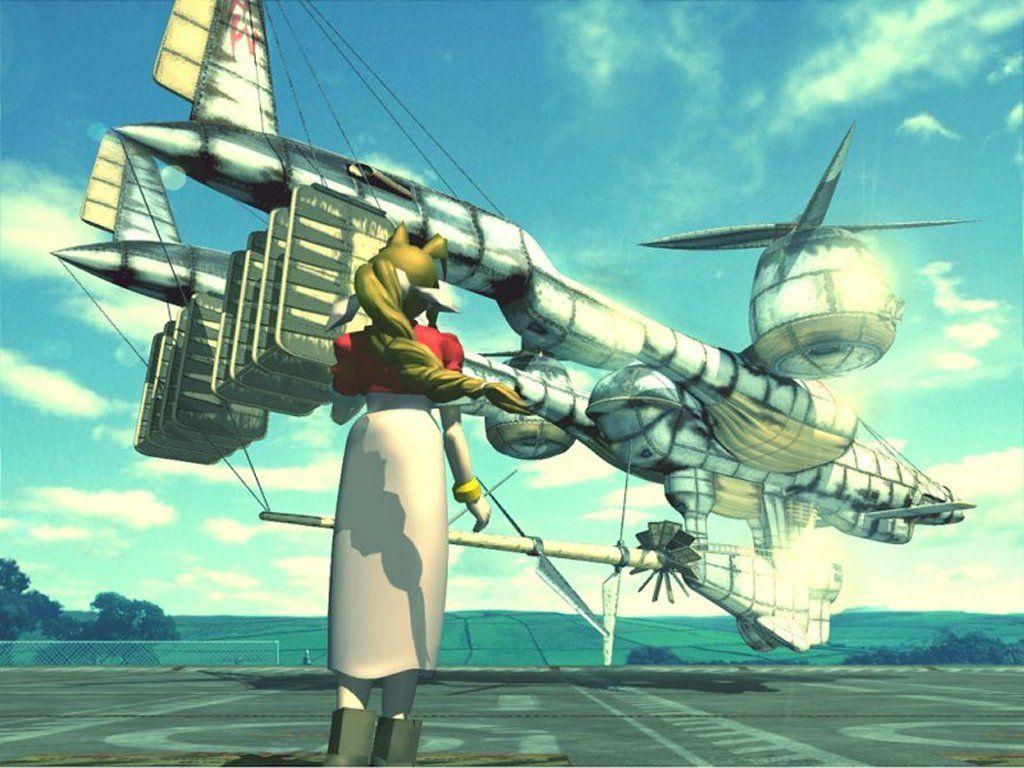 Aeris and the Highwind - Final Fantasy VII