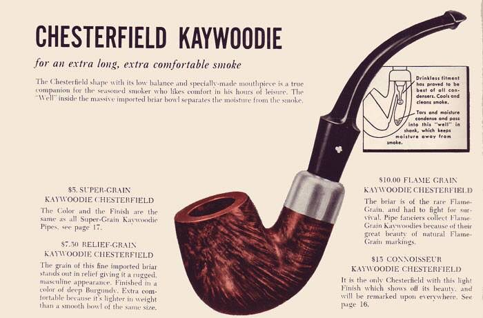 Kaywoodie Chesterfield ad
