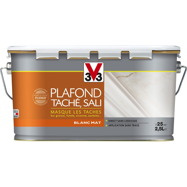 Comment Peindre Un Plafond Sans Trace peinture v33, , rénovation , 2.5 l | peinture blanche