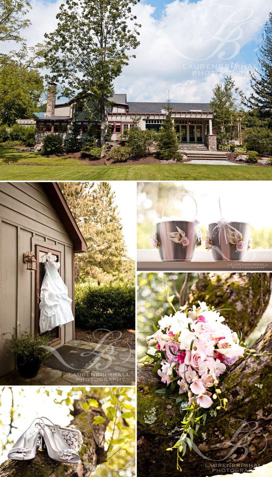 exterior of mountain springs lake resort wedding   lisa and eric's