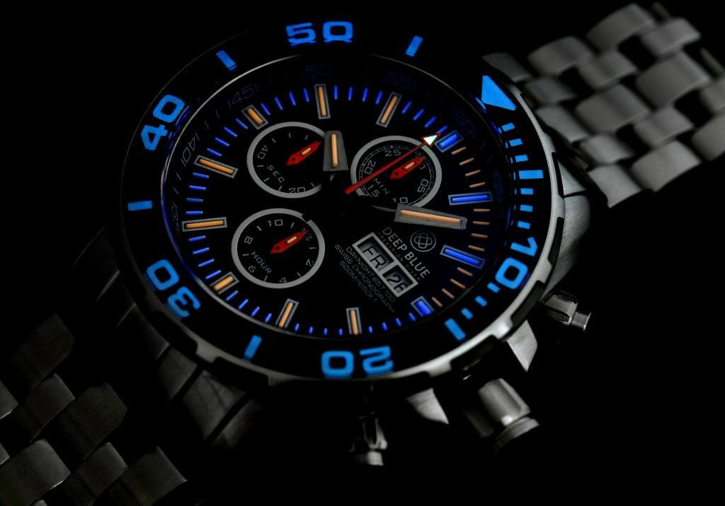 TimeZone : Industry News » N E W M o d e l - Deep Blue DayNight T-100 Chronograph Automatic