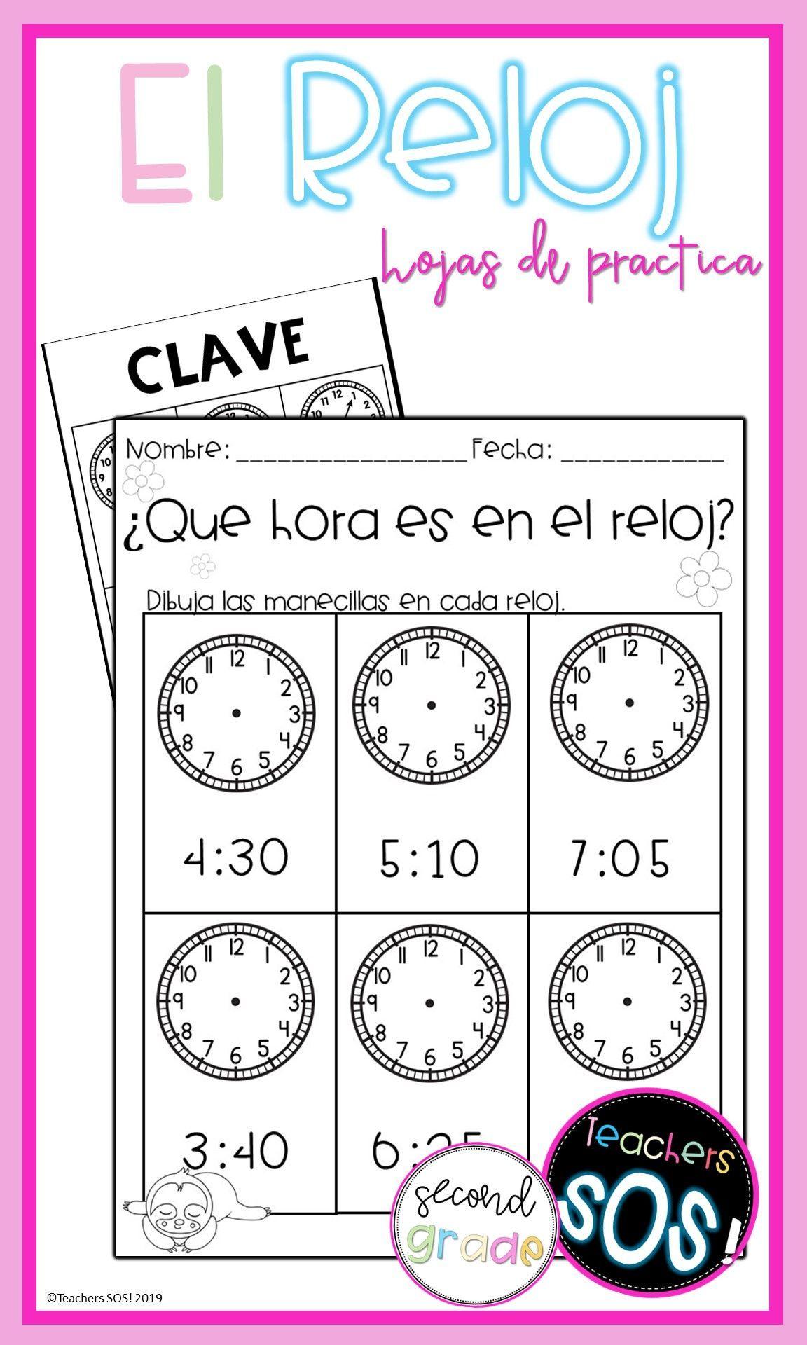 Como Leer El Reloj 24 Hojas De Practica In