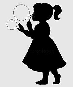 Bubbles | Silhouette clip art, Blowing bubbles, Silhouette art
