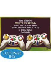 Video Game Custom Invitation Invitations Birthday Boys Party Supplies