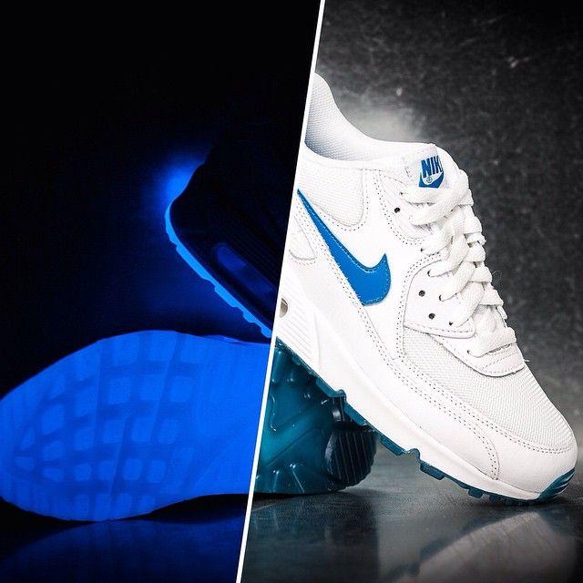 online retailer 868dd d6af3 Nike Air Max 90 Glow (GS) (white   blue)
