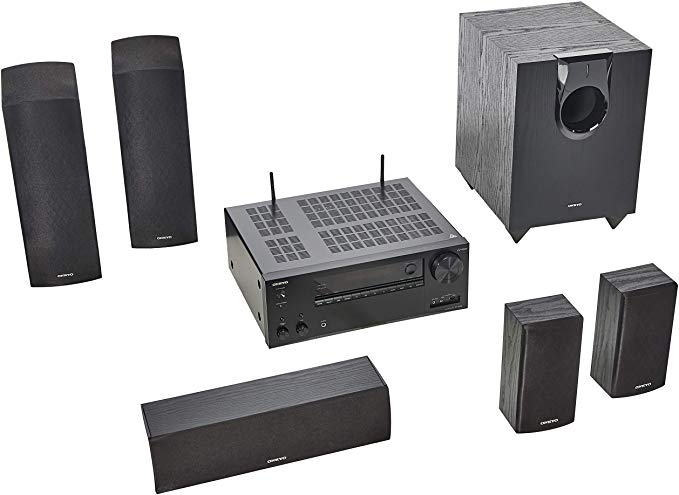 Amazon Com Onkyo Ht S7800 5 1 2 Ch Dolby Atmos Home Theater Package Home Audio Th Best Surround Sound Speakers Best Surround Sound Surround Sound Speakers