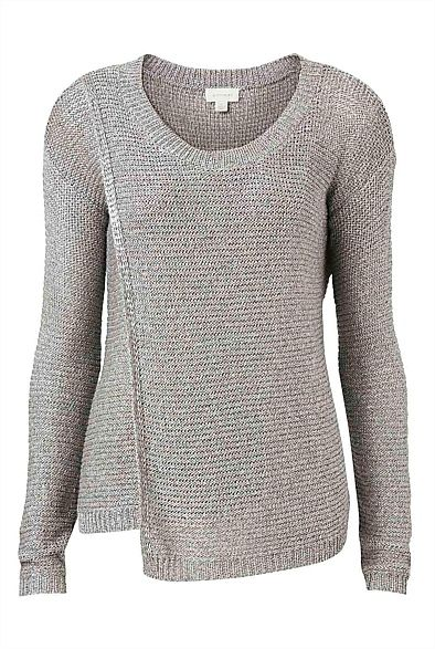 Witchery Asymmetrical Front Knit $130 May also work for breast feeding.