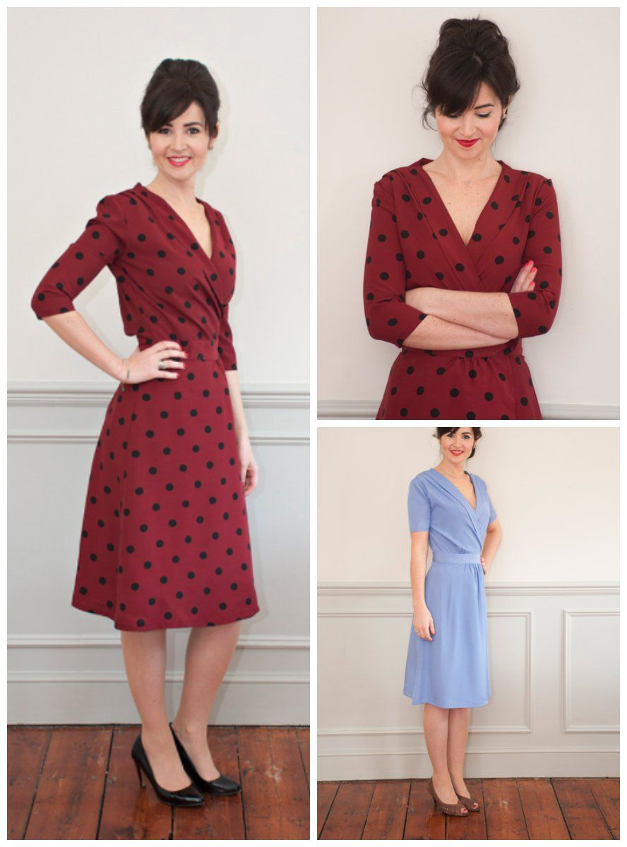 Sew Over It 1940 S Wrap Dress Wrap Dress Sewing Patterns Sewing Dresses Wrap Dresses Diy