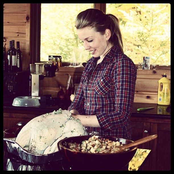 12 hours of brining + a homemade herb butter makes one beautiful bird #PotentialistCanada
