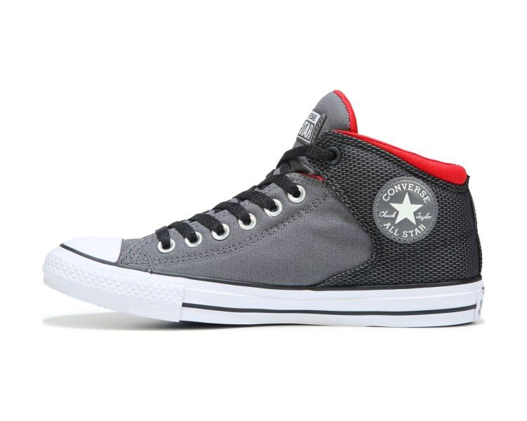 73f3c8a0a62a Converse Chuck Taylor All Star High Street Mid Top Sneaker Grey Red