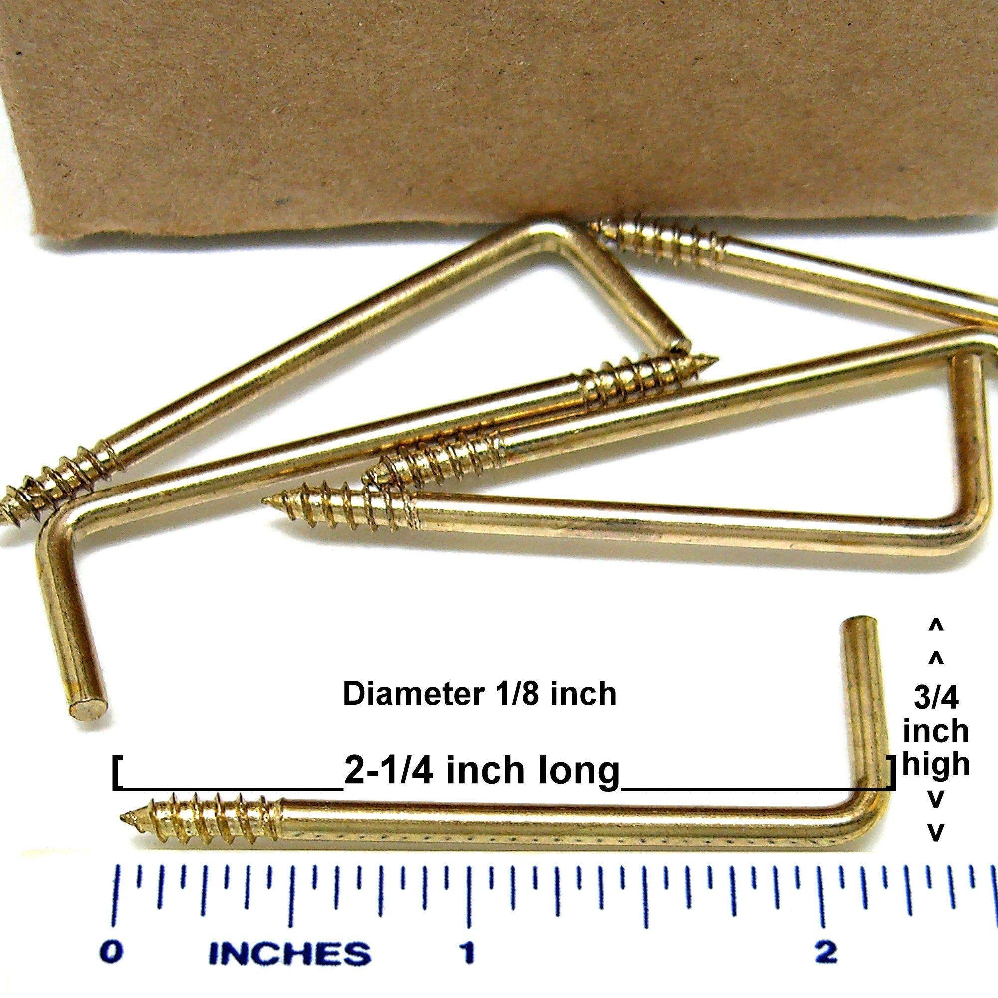 100 pcs square bend screw hook curtain