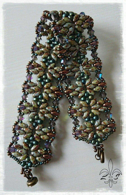 Lilycats Smycken - Armband grönt & bronze