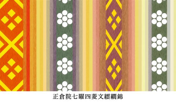 正倉院に収められた七曜と四菱紋を用いた繧繝錦の織物 2020