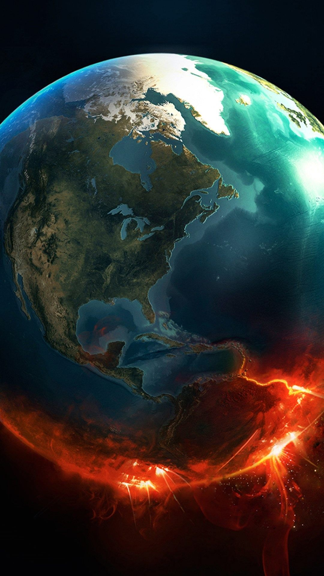 Earth Exploding 1080 X 1920 Wallpaper Vertical