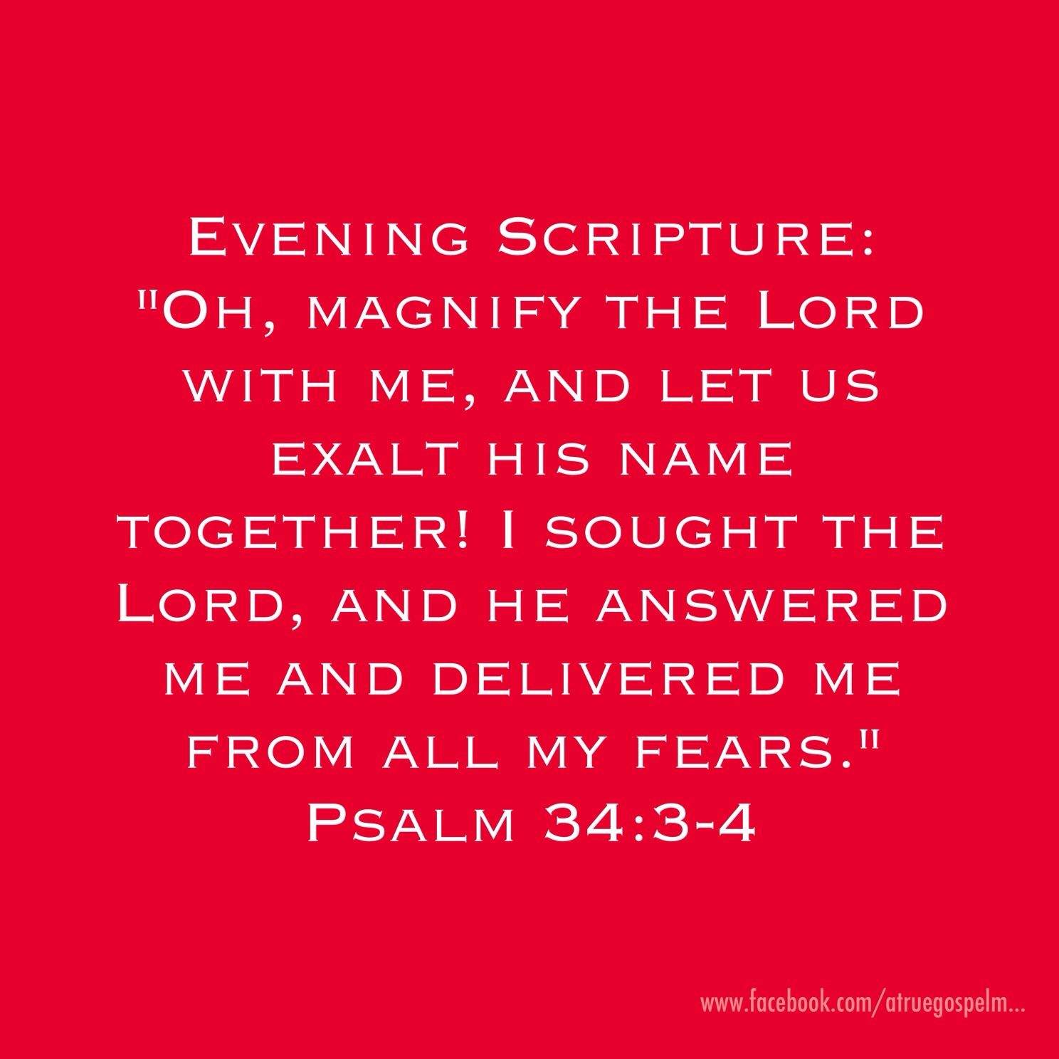 Devotion Quotes Evening Scripture Oh Magnify The Lord With Me