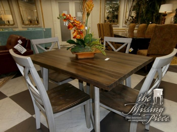 Fairhaven Wooden Rectangle Dining Set With A Dining Table And 4