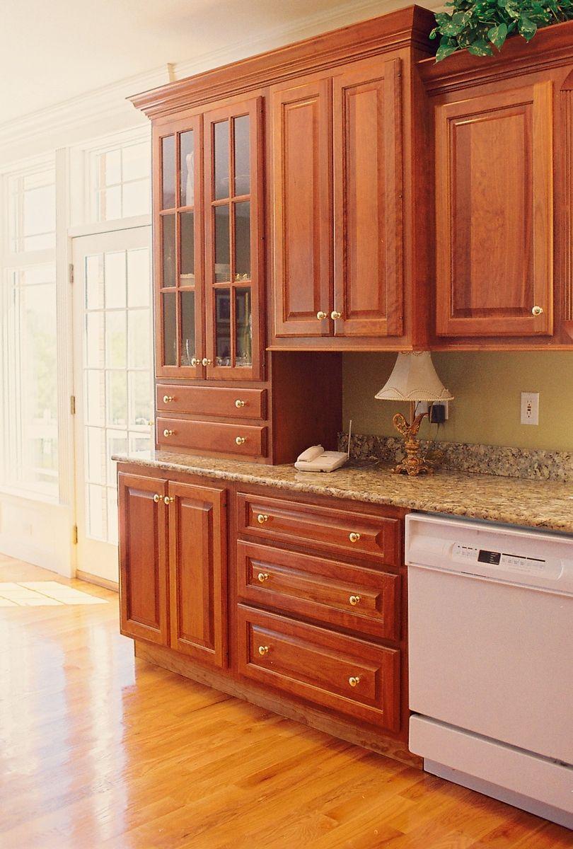 Custom Kitchen Cabinets In Cherry Maple Granite Stainless Steel Glass U0026  Quartz