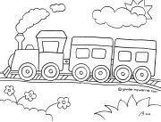Gambar Mewarnai Kereta Api Gambar Anak Anak Coloring Pictures