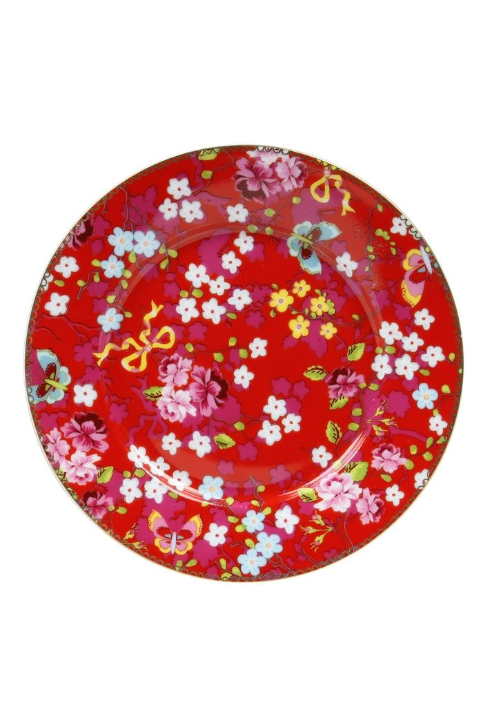 PiP Cake Plate Chinese Rose   Plates   Floral   Porcelain   PiP Studio