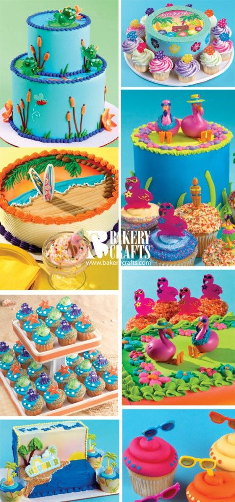 Summer Cake And Cupcake Decorations From Bakery Crafts With