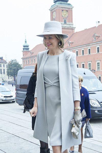 Queen Mathilde of Belgium Photos - Queen Mathilde of Belgium arrives to…