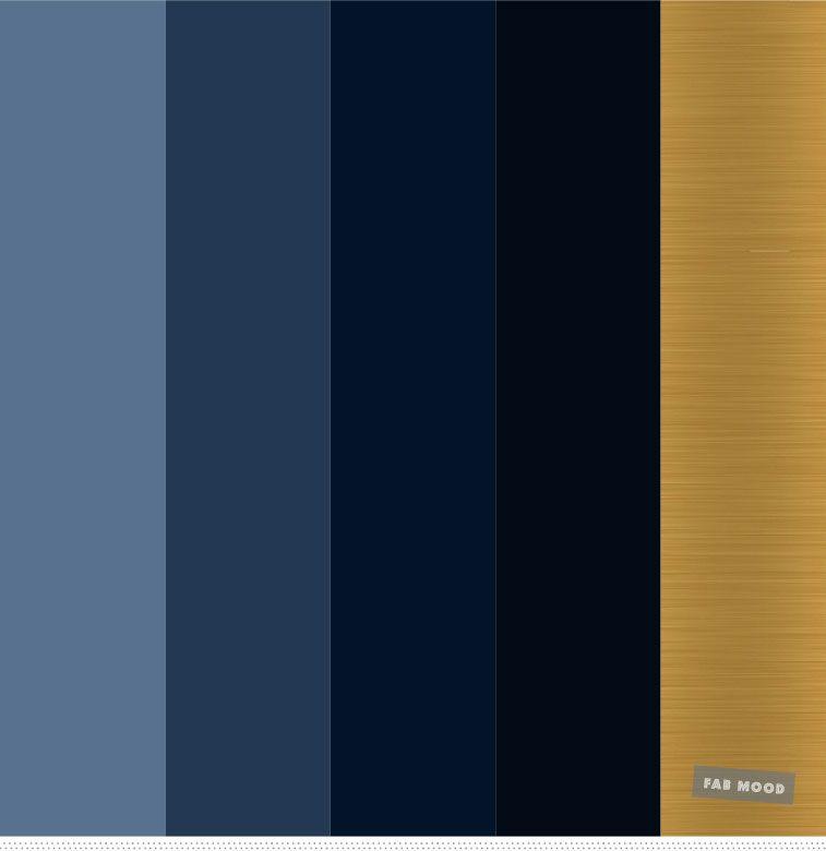 Shades Of Blue And Gold Color Palette Color Colorscheme Blue Gold Dark Blue Paint Color Blue And Gold Bedroom Gold Color Palettes