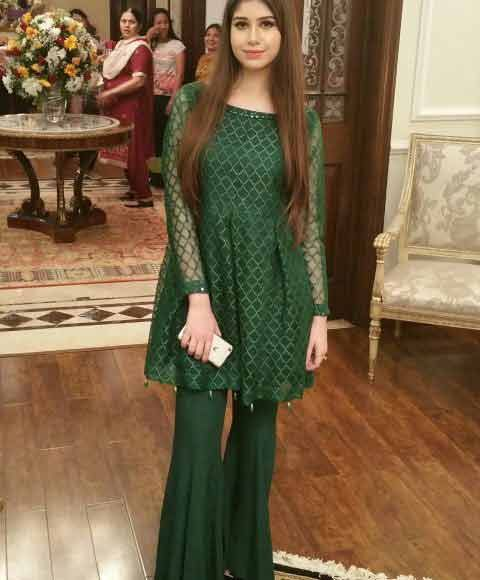 97c0b9456184 latest green short frock with sharara girls net dresses 2017 pakistani  party dresses with price