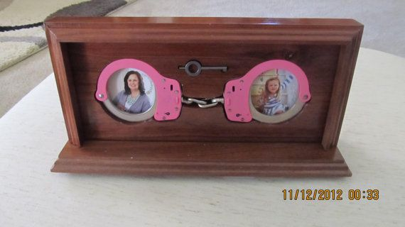 Handcuff Desk Set  Picture Frame by Cuffems on Etsy, $75.00