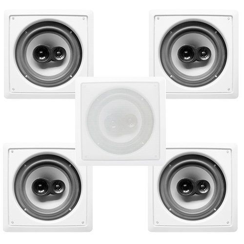 Acoustic Audio Cs I83s 5sngl 5 300 Watt 8 3 Way Home Theater In Wall Ceiling Speakers By Acoustic 154 99 Acoustic Aud Surround Sound Speakers Ceiling Speakers Surround Sound