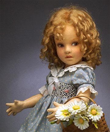 "*FELT ART ~ 2008 GOLDILOCKS ~ Limited Edition 350 , Felt, 12 1/4"", R. John Wright Secondary Market Dolls"