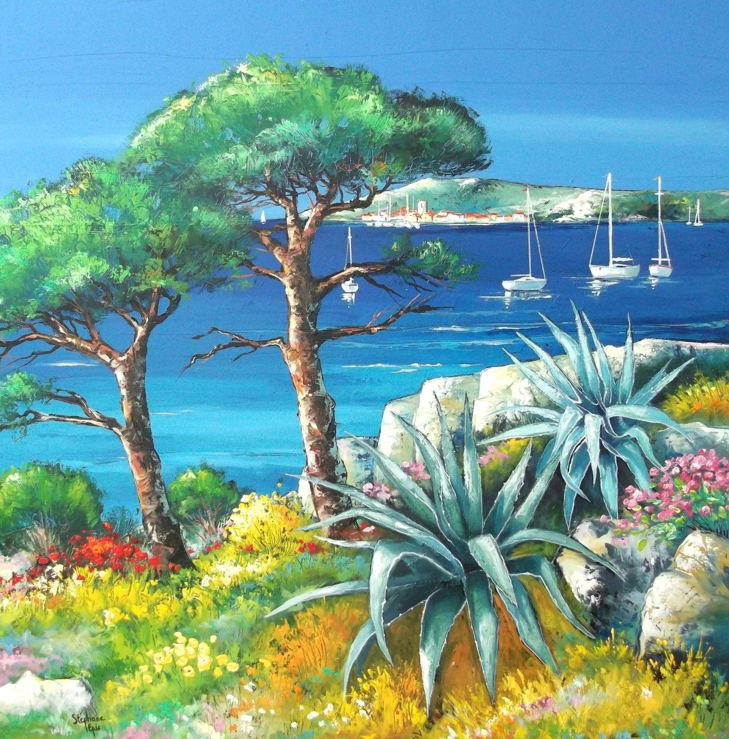 Peinture Par Stephane Epis France Artmajeur Mediterranean Art Oil Painting Landscape Taos Art