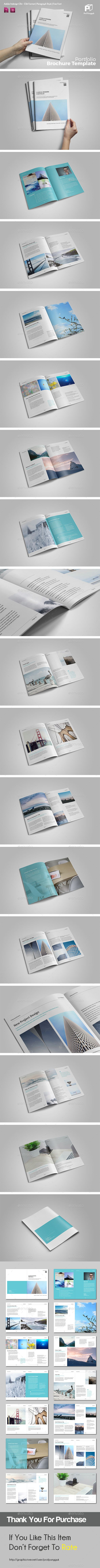 Simple Multipurpose Portfolio Vol.3 — InDesign INDD #template brochure #letter • Available here → https://graphicriver.net/item/simple-multipurpose-portfolio-vol3/15683452?ref=pxcr