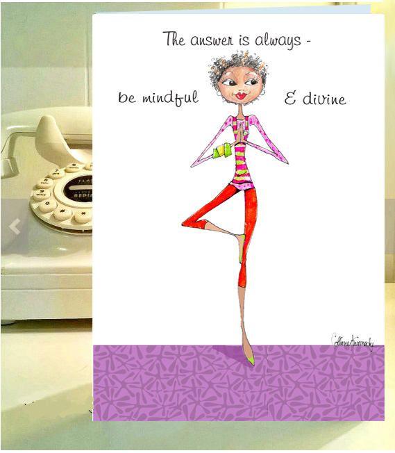 Funny Women Birthday Card Funny Yoga Card Funny Birthday Card For