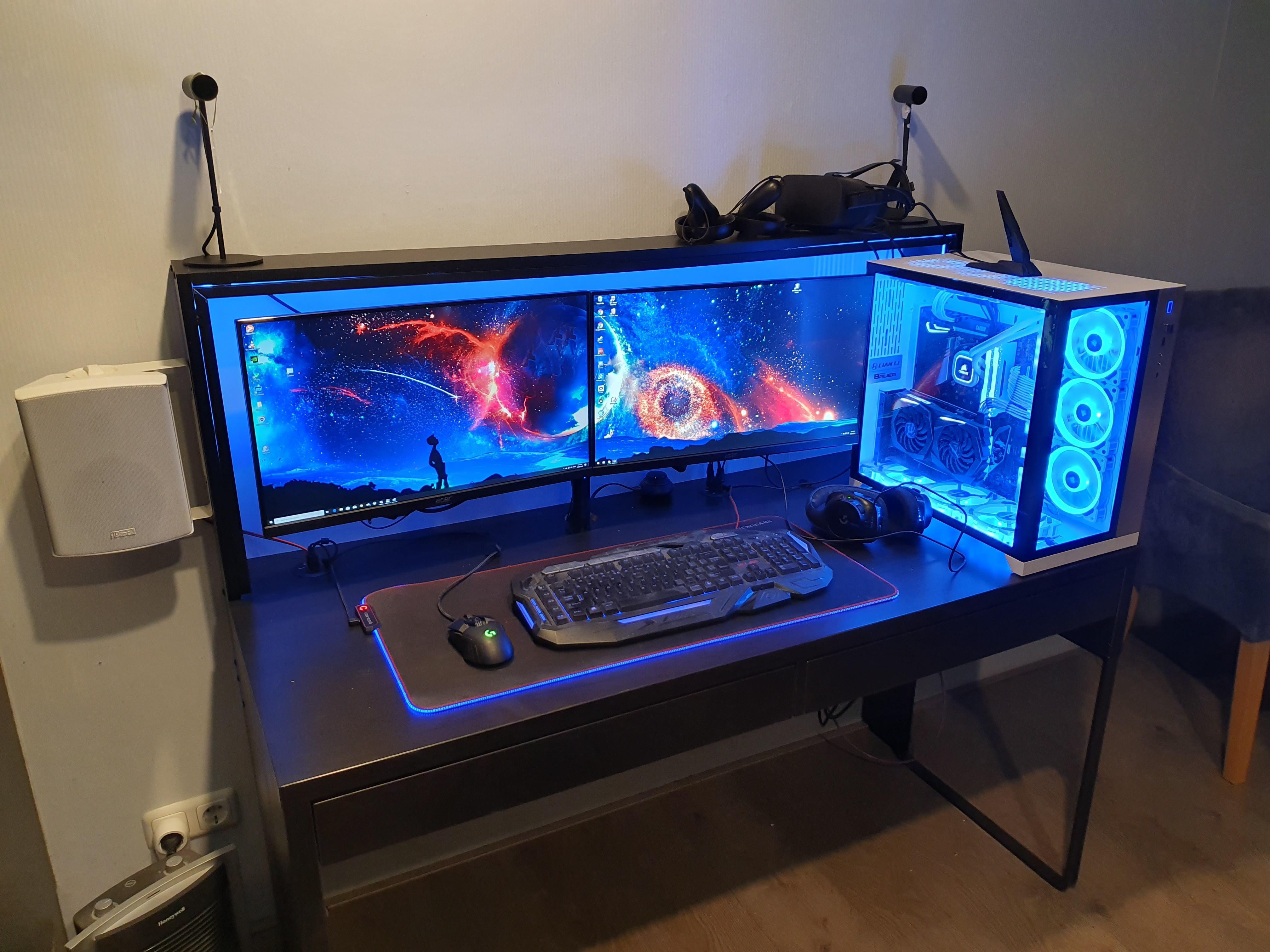 Finally cleaned up and finished my setup pc setup