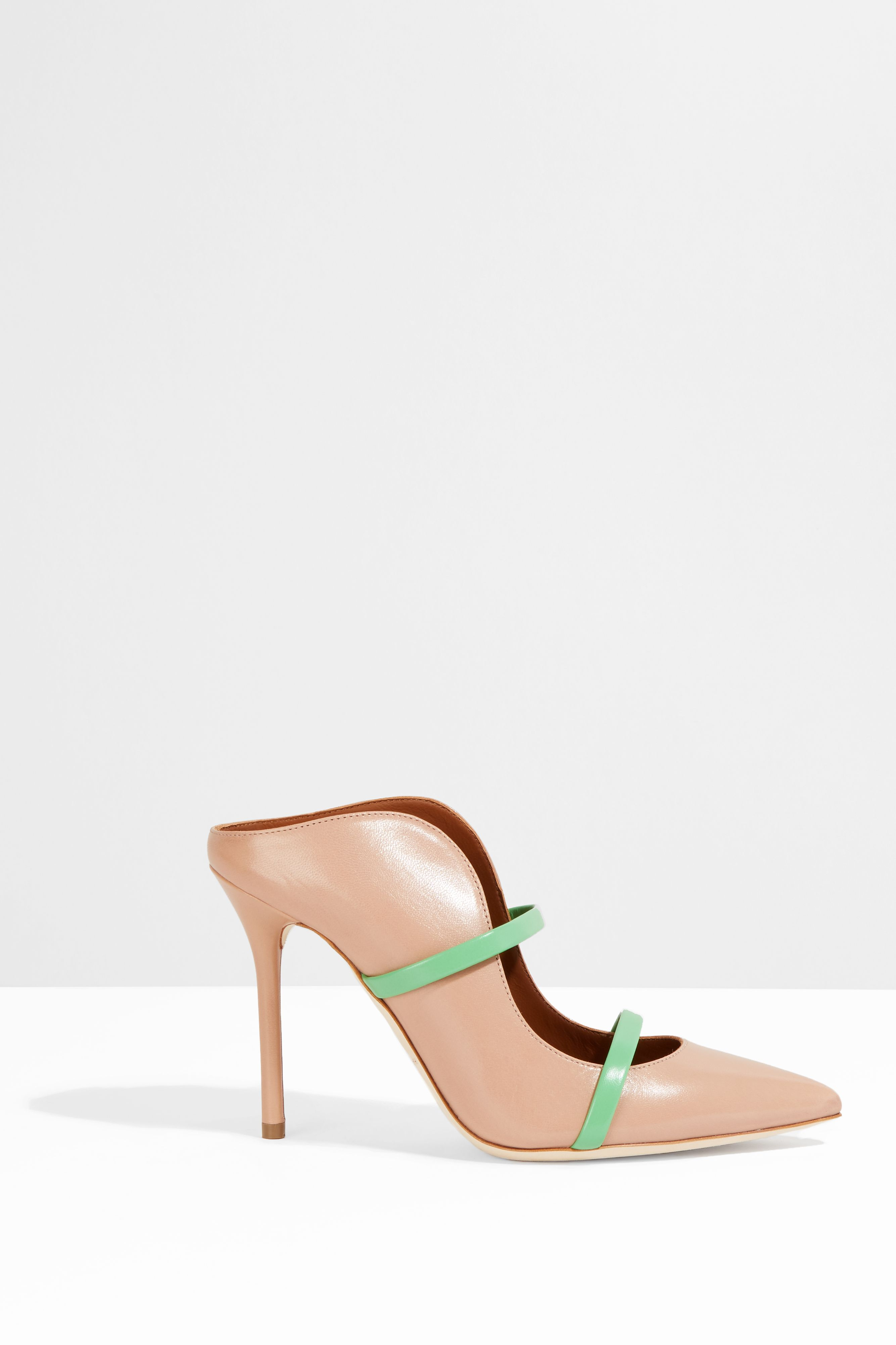 Malone souliers 'maureen' mules black nude women shoes Malone Souliers net worthfree delivery