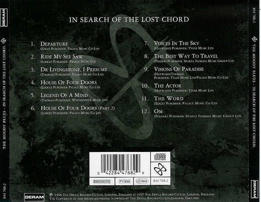 Moody Blues Search Of The Lost Chord 68 Album Cover Art Rock