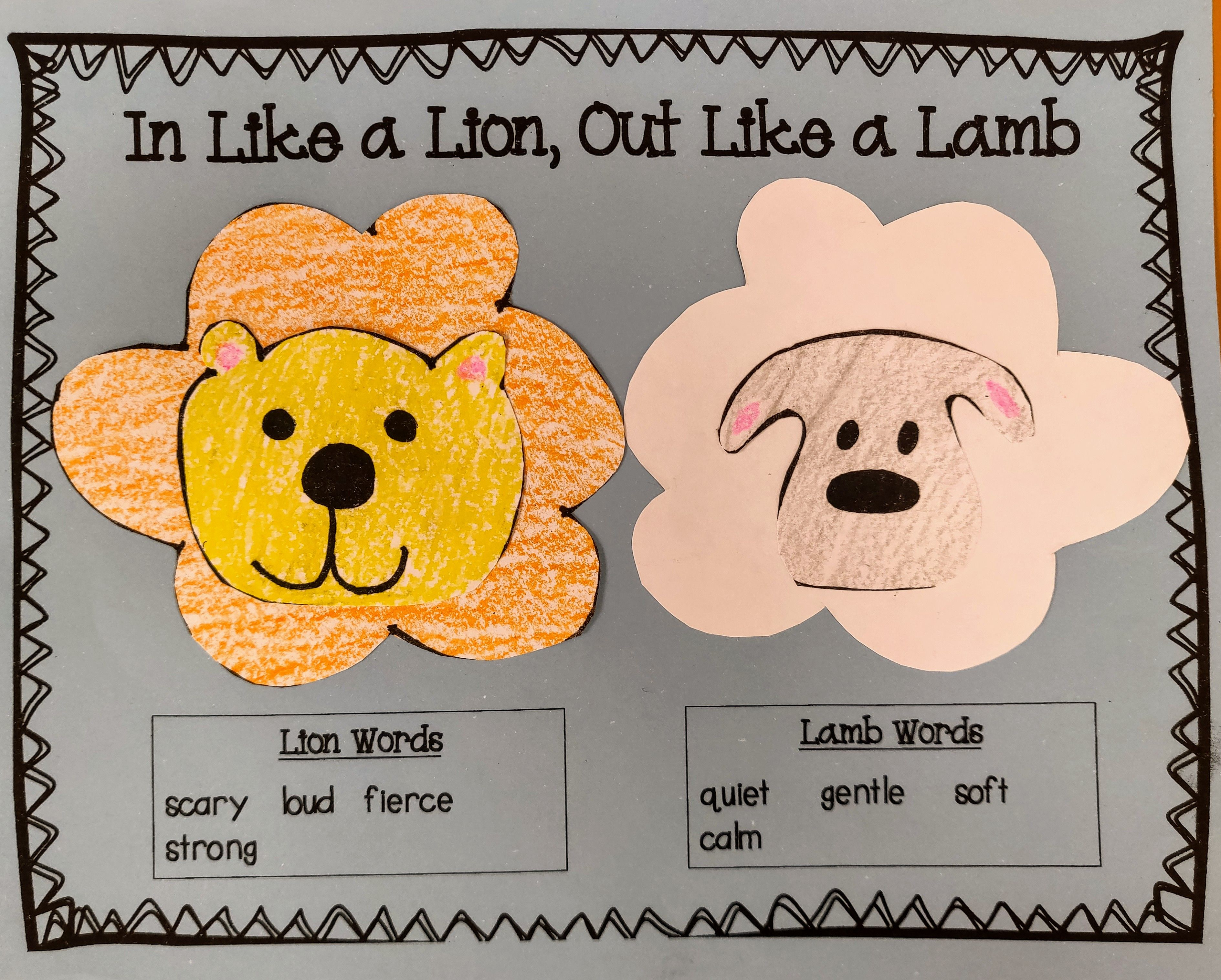 Lion And Lamb Craft With Images
