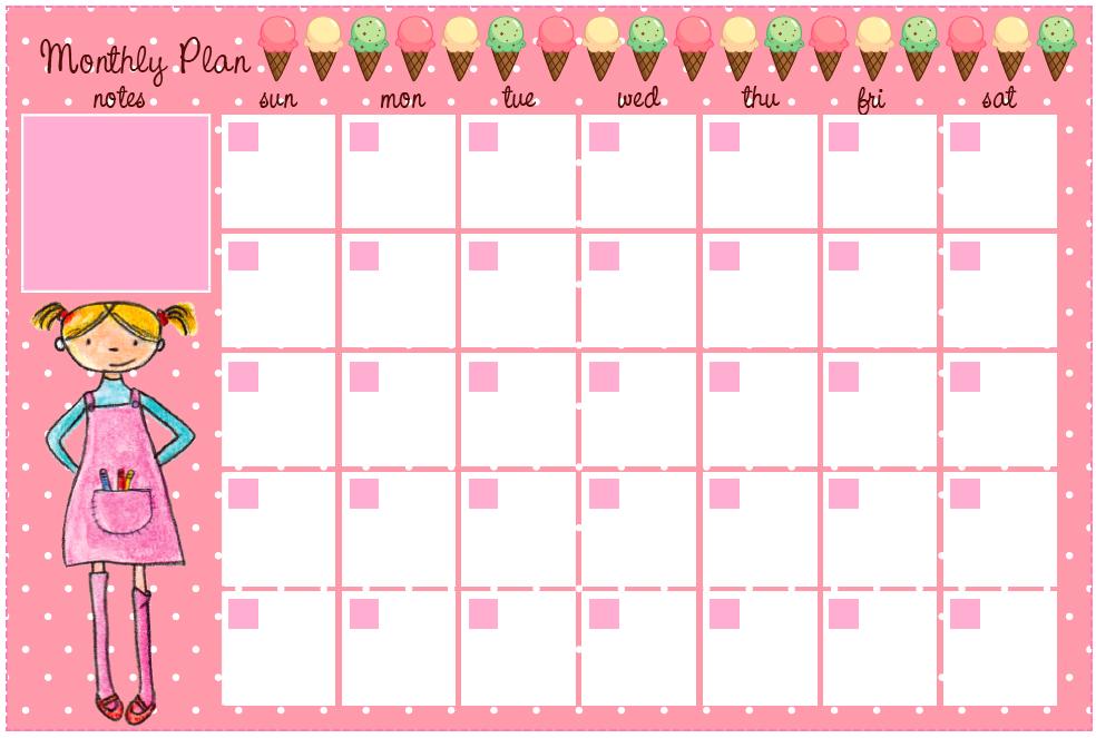 tinysandtea free monthly planner